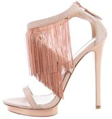 Brian Atwood Chain-Link Fringe Sandals
