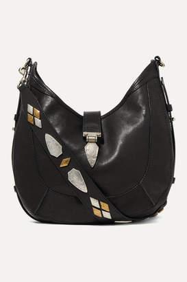Isabel Marant Kaliko Embellished Leather Shoulder Bag - Black
