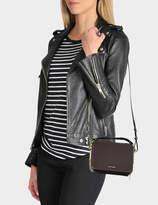 Sophie Hulme Mini Trunk Bag in Oxblood Calf Leather