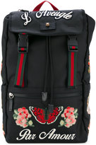 Gucci embroidered techpack - men - Cotton - One Size