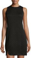 Kensie Textured Sleeveless Sheath Dress, Black