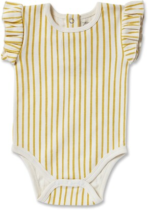 Pehr Stripes Away Ruffle Bodysuit