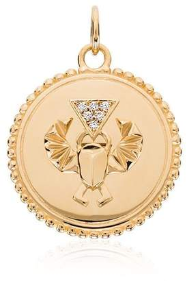 Foundrae 18K yellow gold diamond-encrusted Wholeness charm