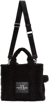 Marc Jacobs Black Sherpa The Small Traveler Tote