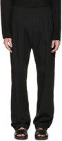 Nude:mm Black Side Button Trousers