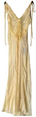 ATTICO Yellow Silk Dresses
