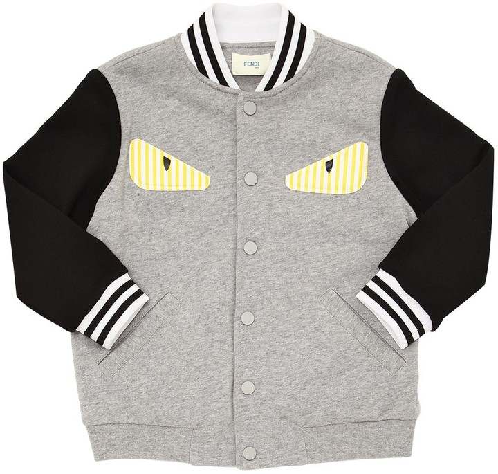 805031170 MONSTER PATCH COTTON BOMBER JACKET