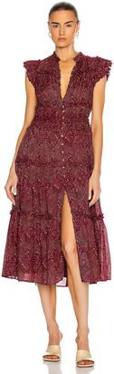 Ulla Johnson Rosalind Dress in Mulberry Diamond | FWRD