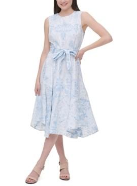 Calvin Klein Embroidered Textured Dress