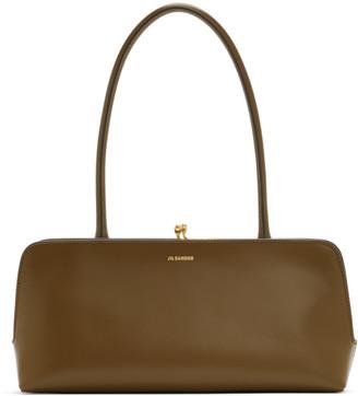 Jil Sander Khaki Small Goji Top Handle Bag