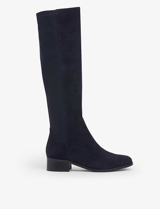 LK Bennett Bella suede and textile knee-high boots