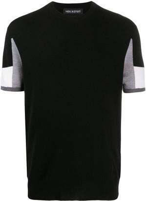 Neil Barrett Colour Block Wool Jumper