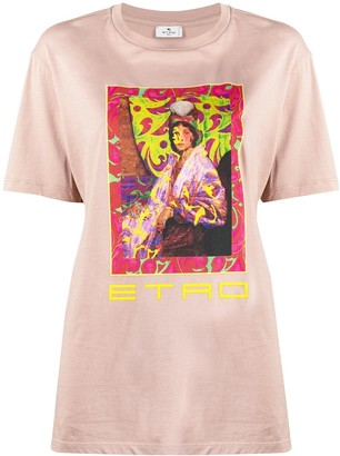 Etro graphic-print cotton T-shirt
