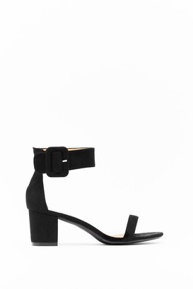 Nasty Gal Womens Hi There Faux Suede Low Block Heels - Black