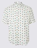 Marks and Spencer Pure Cotton Cactus Print Shirt