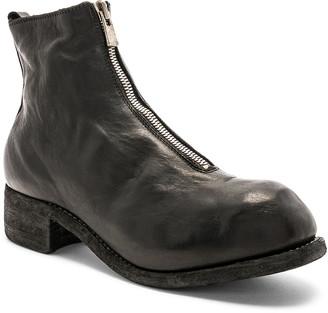 Guidi Soft Horse Full Grain Front Zip Boots in Black | FWRD
