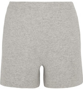Allude Wool And Cashmere-blend Shorts - Light gray