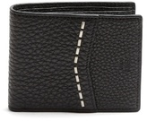 Fendi Metal-stitch Embellished Saffiano-leather Wallet