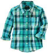 Osh Kosh Boys 4-8 Plaid Button-Down Shirt
