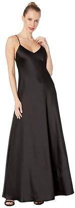 BCBGMAXAZRIA V-Neck Gown Dress (Black) Women's Dress