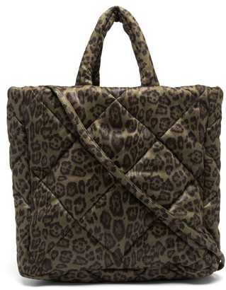 Stand Studio Assante Leopard-print Quilted Technical Tote Bag - Leopard