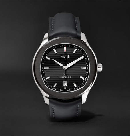 Piaget Limited Edition Polo S Automatic 42mm Stainless Steel And Leather Watch