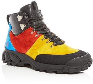 Burberry Men's Henfield Color-Block Suede Hiking Boots