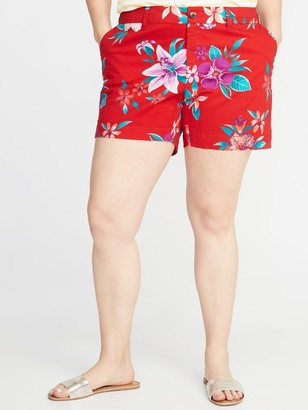 Old Navy Mid-Rise Printed Plus-Size Everyday Shorts - 5-Inch Inseam
