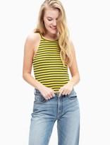 Splendid 1X1 Venice Stripe Halter Bodysuit