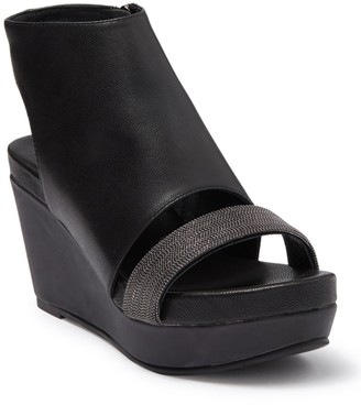 Antelope Hi-Ankle Leather Wedge Sandal
