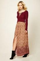 Forever 21 FOREVER 21+ Contemporary Baroque Maxi Skirt