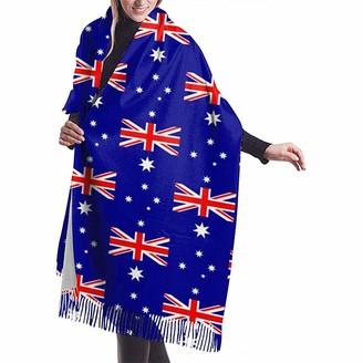 Yinyinyin.Womens Scarf Australia Flag Pattern Womens Scarf Large Soft Silky Pashmina Cashmere Shawl Wrap 68 X 196 Cm