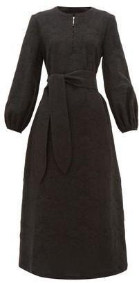 Mara Hoffman June Cotton-blend Midi Dress - Black