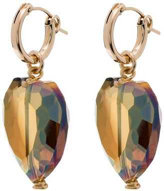 Brinker & Eliza gold-plated Juju crystal heart earrings
