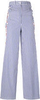 Marios striped flared pants