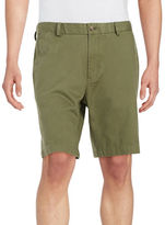 Black Brown 1826 9 Inch Cotton Twill Shorts