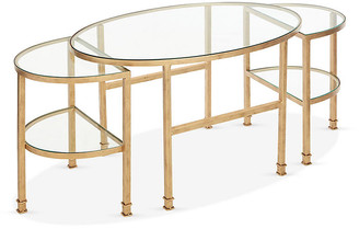 One Kings Lane Asst. of 3 Paquet Nesting Coffee Tables - Antiqued Gold