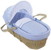 Clair De Lune Barley Bébé Palm Moses Basket - Blue