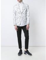 Neil Barrett pattern jacquard blazer