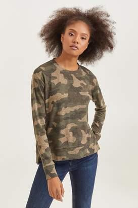 Ardene Camo Sweater with Side Zips