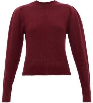 Isabel Marant Colroy Pleated-shoulder Cashmere Sweater - Womens - Burgundy
