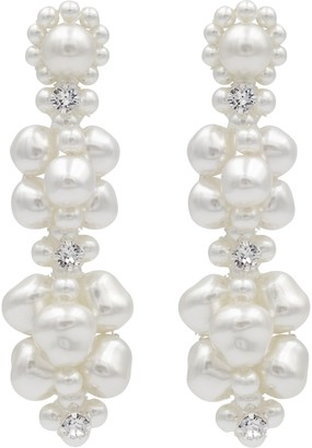 Simone Rocha Exclusive to Mytheresa Faux pearl and crystal earrings