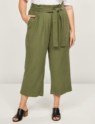 Lane Bryant Soft Ankle Pant With Belt