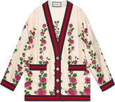 Gucci Rose Garden Silk Cardigan