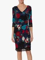 Gina Bacconi Kiri Floral Print Dress, Navy
