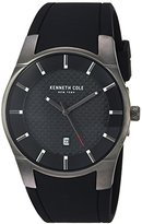 Kenneth Cole New York Men's 'Slim' Quartz Stainless Steel and Silicone Dress Watch, Color:Black (Model: KC15103003)