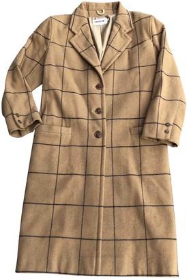 Rodier Camel Wool Coat for Women