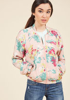 Emily And Fin Streetwear Sweetheart Jacket in Pink in XXL
