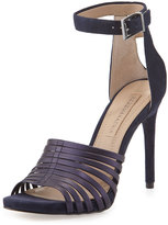 BCBGMAXAZRIA Dena Leather/Suede Strappy Sandal