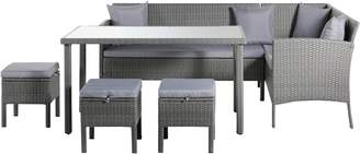 Argos Home 8 Seater Rattan Effect Corner Sofa Set